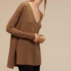 Babaton   Brown Erin Wool Blend Sweater